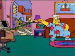 Homer working at home