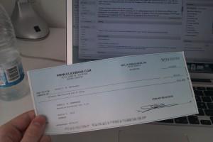 En af mine checks fra Clickbank