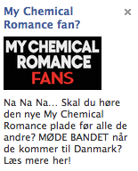 God reklame for My Chemical Romance