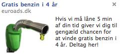 gratis benzin facebook annonce