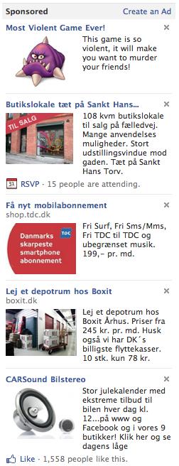 5 Facebook annoncer