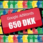 Google AdWords værdikupon gavekort rabatkode