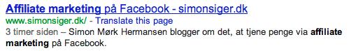 simonsiger.dk google placering