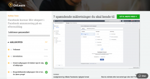 Online kursus om Facebook-annoncering