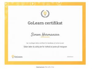 GoLearn certifikat